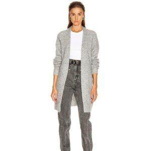 Raya Short Mohair Cardigan In Cold Grey Melange